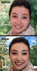 Breckenridge makeup before and after